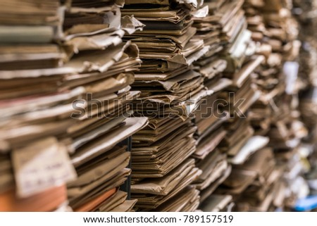 Archive folder, Pile of Files #789157519