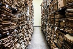 Archive folder, Pile of Files , File folders in a file cabinet, card catalog