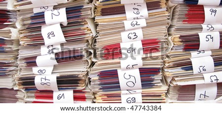 Archives documents files and folders