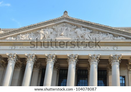 Archives of the United States of America architecture detail
