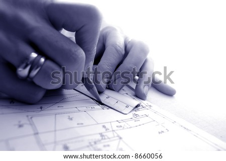 Archritect works on plan papers