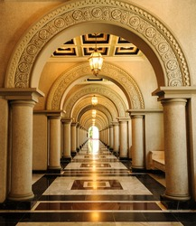Archway in architecture building