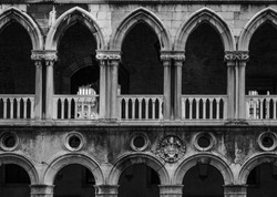 Archway of the Doges Palace in Venice in Italy