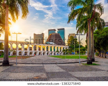 Arcos da Lapa (Lapa Arch) and Metropolitan Cathedral in Rio de Janeiro, Brazil #1383275840