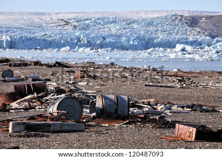 Arctic coast pollution