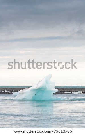 arctic glacier lake in Iceland - effect of global warming