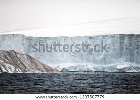 Arctic landscape, arctic tundra and ice of the Arctic Ocean. #1307507779