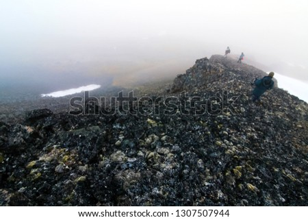 Arctic landscape, arctic tundra and ice of the Arctic Ocean. #1307507944