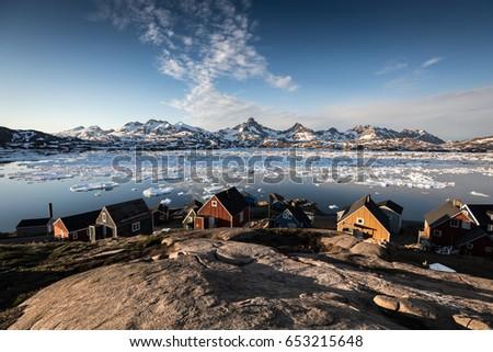 Arctic village by the sea #653215648