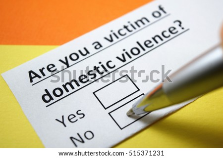 are you a victim of domestic...