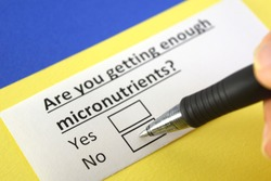 Are you getting enough micronutrients? No