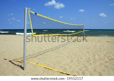 Area for beach volleyball. Black Sea, Bulgaria.