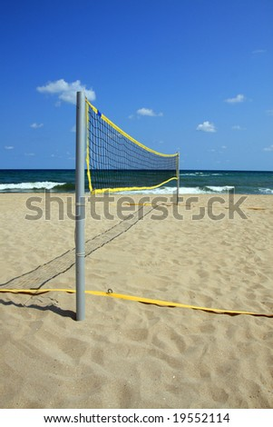 Area for beach volleyball. Summer. Black Sea, Bulgaria.