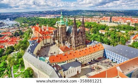 Area Lesser Town of Prague, near the church Saint Vitus, Ventseslaus and Adalbert. Czech Republic. Stock photo ©