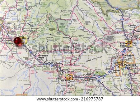 Area map of Boise, Idaho   EZ Canvas