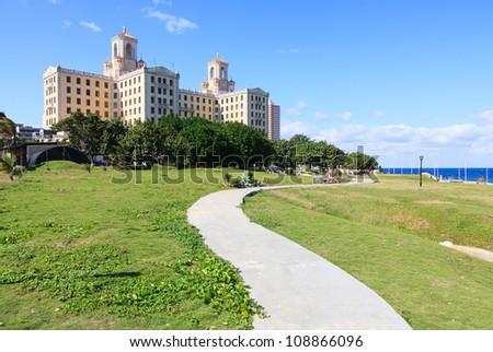 Area of Hotel Nacional de Cuba. Havana.
