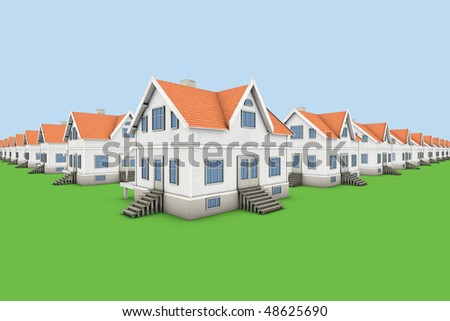 Area of new family homes