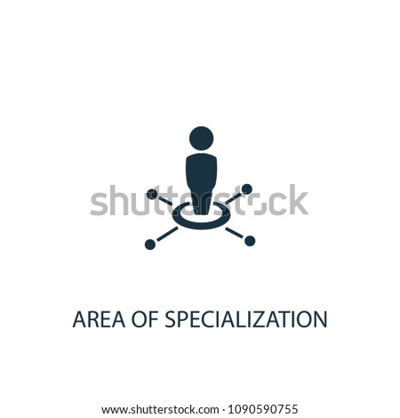 Area of specialization icon. Simple element illustration. Area of specialization symbol design from HR collection. Can be used in web and mobile.