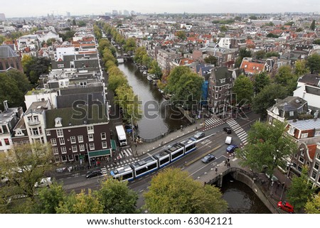 Areal view of Amsterdam