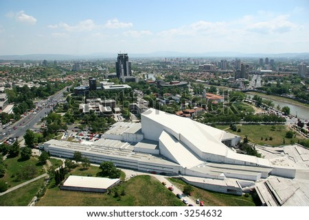 Areal view of the Skopje - Macedonia