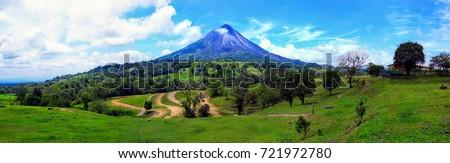 Arenal volcano Costa Rica #721972780