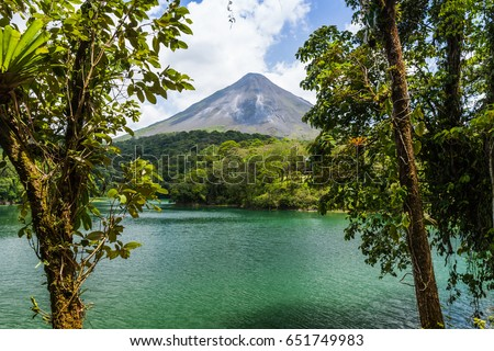 Arenal Volcano in Costa Rica.  #651749983