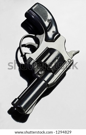 argentez le pistolet - stock photo