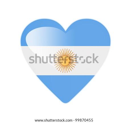 Argentina 3D heart shaped flag