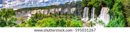 Argentina Falls Panoramic #595031267
