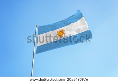 Argentina flag in the sky
