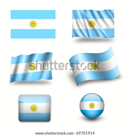 argentina flag symbol set - stock photoArgentina Symbol