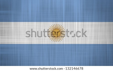 Argentina Flag with a fabric texture