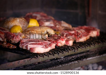 Argentina food in Tandil. The famous asado  #1528900136