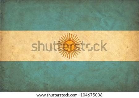 Argentina grunge flag