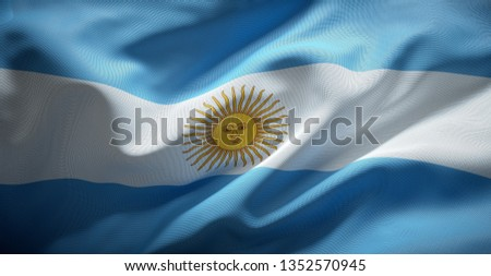 Argentina's official flag Stock photo ©