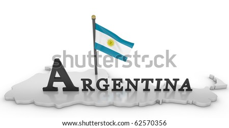 Argentina Tribute/Digitally rendered scene with flag and typography