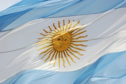 Argentinian flag detail