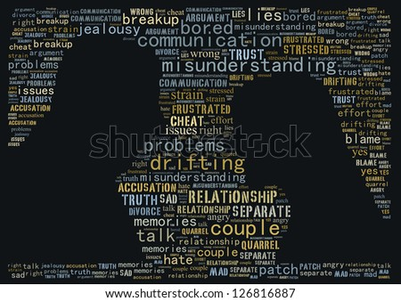 Argument between couple: text graphics