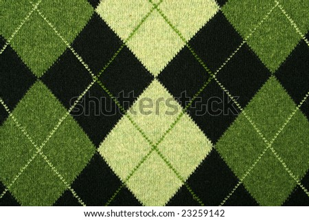 argyle pattern on a sweater