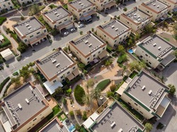 Arial view of a middleast residential compound