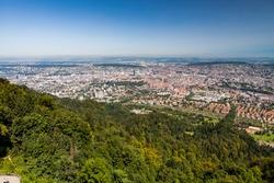 Arial view of Zurich, Switzerland