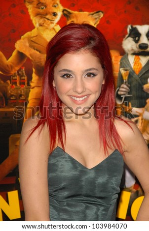 Ariana Grande at the Los Angeles Screening of 'Fantastic Mr. Fox' for the opening night of AFI Fest 2009. Grauman's Chinese Theatre, Hollywood, CA. 10-30-09