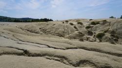 Arid ground made of dry mud