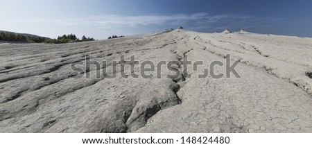 Arid landscape and drought