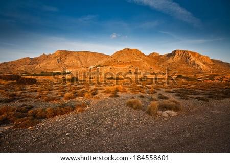 Arid landscape of south eastern Crete.