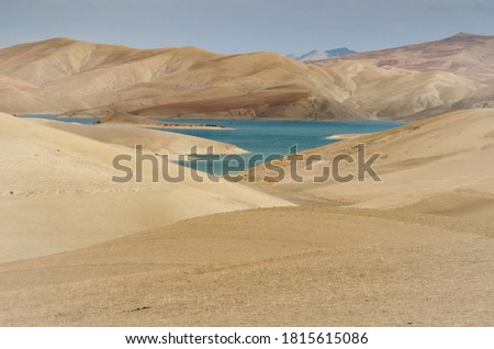 arid landscape of the Moroccan rif Stockfoto ©