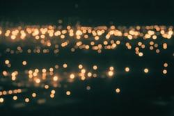 ARIEL VIEW CITY AT NIGHT, DARK LIGHTS BACKGROUND