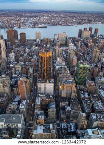Ariel View of Midtown Manhattan #1233442072