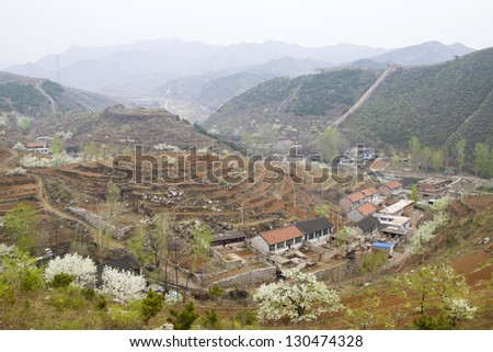 Aries Valley Village Scenery, Qian'an City, Hebei Province, China - stock photo