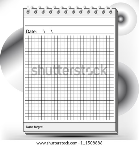 Arithmetic Block notes in black and white shades